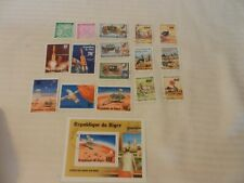 Lot of 17 Niger Stamps Prince Charles, Lady Diana, Viking Mars Mission, Wildlife