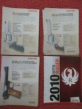 2010 Ruger Dealer 327 Federal GP100 Blackhawk New 22/45 Pistol Shop Catalogs