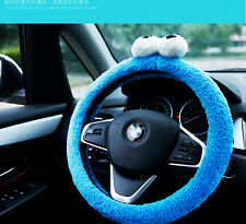 New Listing Cute Cartoon Plush Car Steering Wheel Cover 1 Pcs 2 Color