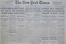 10-1937 October 30 JAPANESE SHELL FOREIGNERS IN SHANGHAI KILLING BRITONS; THREAT