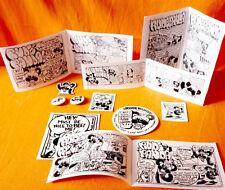 RUDE PANDA FANDA PACK !! button sticker magnet combo pack WOW !!! cartoon comics