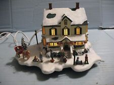 """Thomas Kinkade 1st Issue """"Home For The Holidays"""" Lighted Cottage"""
