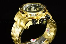 Invicta Mens 53mm Venom Gen III Swiss Mv Black Dial 18K Gold Plated Chrono Watch
