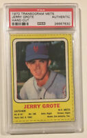 1970 Transogram Mets JERRY GROTE PSA A Authentic Baseball Card New York Mets