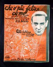 Musica Spartito - Chi è più felice di me...- C.A. Bixio - Piano e canto - 1937