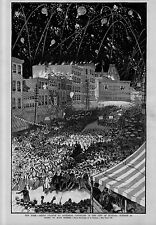 GOVERNOR GROVER CLEVELAND GRAND OVATION IN THE CITY OF BUFFALO FIREWORKS PARADE