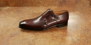 New! Magnanni 'Ramolo' Double Monk Strap Loafer Burgundy Mens Size 8 M MSRP $375