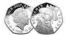 Benjamin Bunny 50p Rare Beatrix Potter Coin 50p Fifty pence Uncirculated 2017