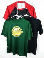 3 Youth Boys Shirts Lot Sz L Large YL Short Sleeve Boys Workout Black Camo Red