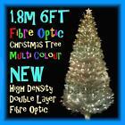 PREMIUM 1.8m 6FT 180cm DENSITY DOUBLE LAYER FIBRE OPTIC CHRISTMAS TREE (WHITE)