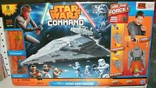 STAR WARS COMMAND  -  STAR DESTROYER - 9 FIGURES & VEHICLES WITH REMOTE CONTROL