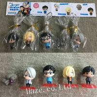 5pcs/Set Anime Yuri!!! on Ice Victor Plisetsky PVC Figure Model Toy 3-4cm Gifts