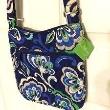 VERA BRADLEY Hipster Messenger  Crossbody Bag Mediterranean Blue New With Tags!