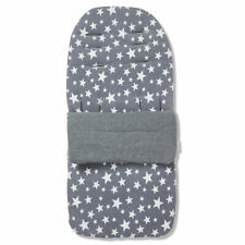 Fleece Footmuff / Cosy Toes Compatible with Bugaboo Donkey Twin - Grey Star