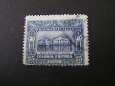 *ERITREA, SCOTT # 48, 25c. VALUE DK.BLUE 1910-29 GOVT BUILDING MASSAUA ISS USED