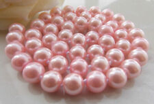 Natural 8-12mm South Sea Freshwater Pink Shell Pearl Necklace Long 18-48 Inches
