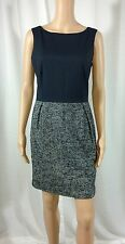 GAP Dress 6 Navy Blue Knit Sleeveless Above Knee Length Career Bateau Neckline