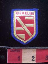 Felt Back RICHELIEU FRANCE Patch French Travel Souvenir 74Q7