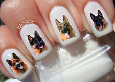 German Shepard Nail Art Stickers Transfers Decals Set of 60