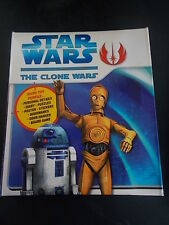 Star Wars Clone Wars Book Diary Puzzles Stickers Board Game signets Poster très bon état