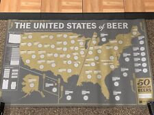 The United States of Beer: Unique Beer Tasting Map. Nib