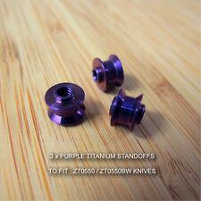 Zero Tolerance ZT0550 ZT 550 Knife Anodized Custom Ti Titanium Standoffs PURPLE