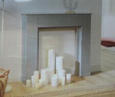 Kaminkonsole Umrandung MDF grau 107,5 x 100,5 x 18cm  mit Stauraum/Home Creation