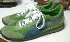 Mens Puma Anjan Tennis Soccer Shoes Size 8 athletic green retro