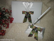 Wedding Party Ceremony Redneck Deer Hunter Hunting Guest Book & Pen White Set