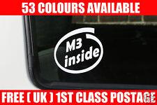 2x M3 dentro, Pegatinas. para BMW E21, E30, E36, e34, 525i, 320i