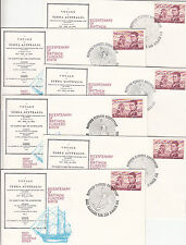 Stamps Australia Bicentenary Matthew Flinders birth set of 6 covers & postmarks