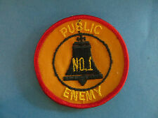 Vintage 70's Biker Vest Trucker Hat Hippie Jacket Patch Public Enemy #1 Red