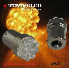2 AMPOULE 9 LED ORANGE PY5W PY21W CLIGNOTANT REPETITEUR BULB AMBER LED BAU15S