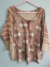 Crave Fame Almost Famous Top Womens Size 2X Soft Knit Semi Sheer Trendy Boho