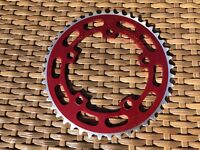 Sugino Red 44T Chain Wheel Ring Old School BMX Burner Machined Teeth