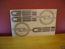 Opel Kadett-E GSi  Dekorsatz Aufkleber Schriftzüge Embleme