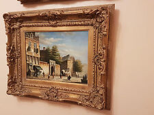 Oil On Panel 'Old Village Scene With Figures' - Signed By A. Norley