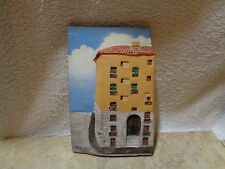 Vintage Redware Wall Relief Madrid Spain House Artist Signed