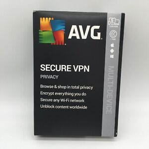 AVG Secure VPN 2019, 5 Devices 1 Year Key Card Brand New And Sealed