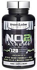 NO2 Xtreme   120 Capsules   Preworkout Nitric Oxide Pump Maximiser   Pre-workout