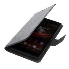Borsa Bookstyle Smartphone Custodia Protettiva Custodia Cellulare Case xl2 Libro Nero