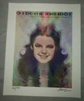 "Josh Levy ""Somewhere over the Rainbow"" signed Blotter Art wizard of oz"