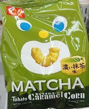 TOHATO Caramel Corn Matcha Flavor Sweet Snack JAPAN F/S