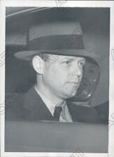 1939 New York Colonel Charles Lindbergh in a Car Driving from Pier Press Photo
