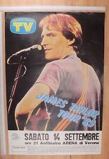JAMES TAYLOR  TOUR 1985 VERONA 14/09/85 POSTER CONCERTO [MM 0068-A]