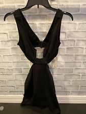 NWT Tobi Black Cut Out Backless Dress Party Cocktail Small Open Back