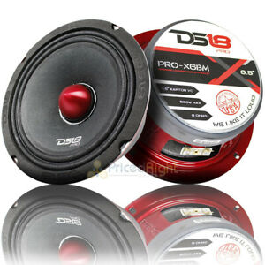 "2 DS18 PRO-X6BM 1000W Max 6.5"" Midrange Speakers Loudspeaker With Bullet 8 Ohm"