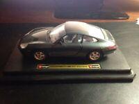 Burago Porsche 911 Carrera  Die-cast Blue 1:24 scale MINT+Car+Box
