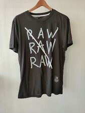 G-Star Raw T-Shirt  Black Short Sleeve Size Medium