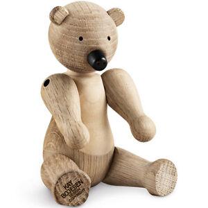 Kay Bojesen Genuine Designer Wooden Bear Figurine by Rosendahl 39251